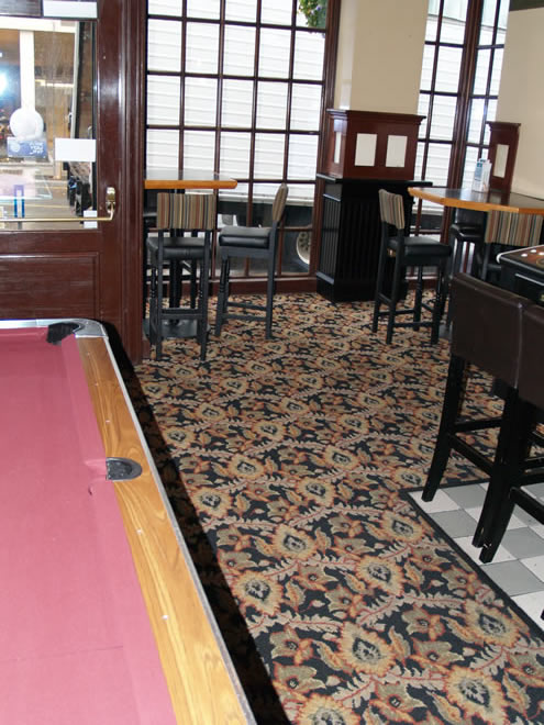 sticky wicket pool room flooring